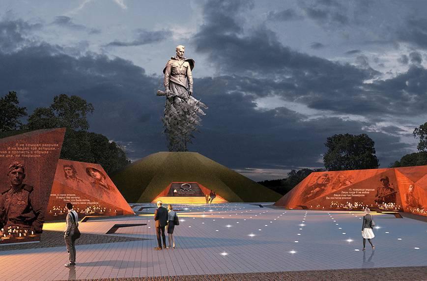 Открытие Ржевского мемориала Советскому солдату